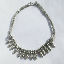 VTG RA TRIBAL INDIA RAJASTHAN EAST INDIAN STERLING SILVER 900 CHOKER NECKLACE