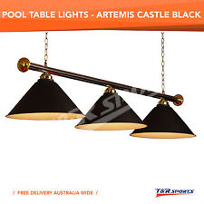 NEW! BLACK METAL POOL BILLIARD SNOOKER TABLE LIGHT STOCK CLEARANCE!!!