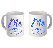 Mr & Mr mug pair Couple Love Valentines Gift Cute Vintage Funny Gay LGBT