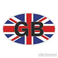 GB OVAL UNION JACK BADGE CAR BUMPER / WINDOW VINYL STICKER / DECAL 150mm x 90mm
