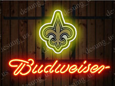 """New Budweiser New Orleans Saints Beer Neon Sign 19""""x15"""" Ship From USA"""