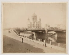 c1880 Albumen Print Cathedral of Christ Saviour, Moscow, Russia, Early View