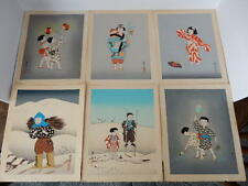 Vintage Japanese Hand Painted Pictures