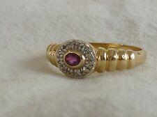 #6971# (S085-D) Goldener Ring mit Rubin