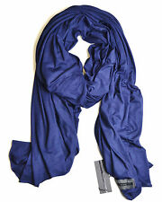 FLUXUS NOMAD SCARF NAVY SCARF WRAP SHAWL COTTON MADE IN USA $42.99