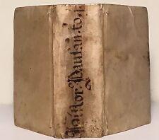 Pausaniae (Pausanias) Decem Regionum Books 1-5  on Greece Latin Vellum 1558