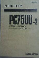 KOMATSU PC75UU-2 Excavator PARTS MANUAL