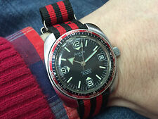 Vintage diver vision world time Anker automatic watch PUW 1561 broad arrow
