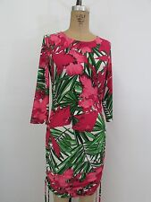 MICHAEL KORS Floral Ruched 3/4 Sleeve Dress-Size 4