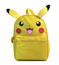 "1 Pcs, Pokemon, Pikachu, School Backpack, 16"", Large Bag, with Ear, Licensed,"