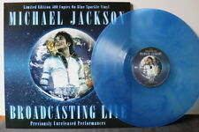 MICHAEL JACKSON 'Broadcasting Live' Ltd. Sparkling Blue Vinyl LP NEW