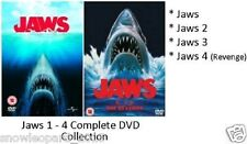JAWS QUADRILOGY PART 1 2 3 4 DVD Complete Movie Collection All Films New UK