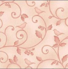 'NINTH & VINE' GRACEFUL VINES & LEAVES PINK TONAL BABY FABRIC