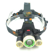 9000Lm XML T6+2x XPE 3 LED Rechargeable Head Light Torch Bike Bicycle Headlamp