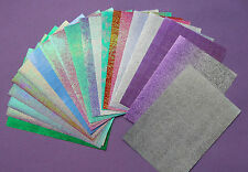 20 Sheets Mixed SHIMMER, METALLIC, HOLOGRAPHIC Papers Variety A6