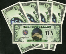 2014   $10  Disney Dollar   Disneyland   4 Digits  consecutve #'s  1 note  MINT