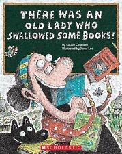 There Was an Old Lady Who Swallowed Some Books!-ExLibrary