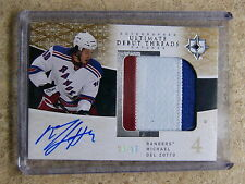 09-10 UD Ultimate Signed Debut Threads RC Auto #SDT-DE MICHAEL DEL ZOTTO /25