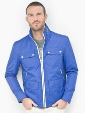 ANDREW MARC NEW YORK CHASE JACKET COAT BLUE CITY RAIN COLLECTION MM3AC272 $175
