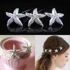 New Wedding Bridal Hair Pin Crystal Starfish Hair Clip