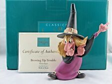 "WDCC ""Brewing Up Trouble"" Witch Hazel Disney's Trick or Treat in Box COA RARE"