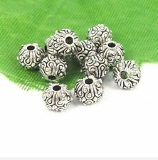 Free Shipping 30Pcs Tibetan Silver exquisite Spacer Beads 5.5x6.5mm