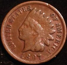 US COIN - 1897 Indian Head Cent / (pick Quarter S.1 box )