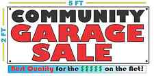COMMUNITY GARAGE SALE Banner Sign All Weather NEW Larger Size