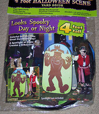 Halloween Yard decoration,Frankenstein,spooky day or night,4 ft tall,silhouette