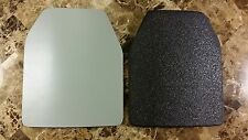 Body Armor Curved Two 10x12 Level 3 LINE-X Mil-Spec Certified Plate Spall Frag