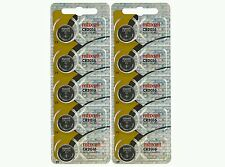 10 Maxell CR2016 CR 2016 DL2016 3v lithium coin watch batteries hologram pack