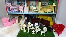 ����Vintage Marx tin metal dollhouse & Furniture toy set 1960's miniatures