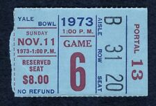 New York Giants vs Dallas Cowboys Nov 11, 1973 YALE BOWL Ticket Stub