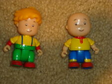 "2 CAILLOU FIGURES Leo, Caillou 2.5"" Plastic Pretend Play Toys Figurines LOT"