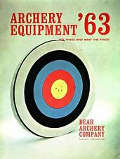 1963 Bear Archery Equipment Catalog  - Reproduction