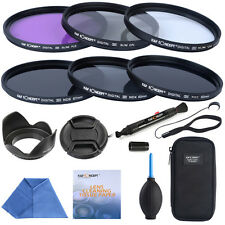 67mm Slim UV CPL FLD ND2 ND4 ND8 ND Filter Kit Lens Hood For Nikon Canon Sigma