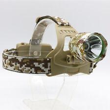 Neu CREE XM-L T6 1800 Lumens LED Militär Farbe Kopflampe Stirnlampe Headlight