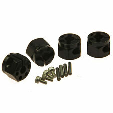 Aluminum 12mm HEX Wheel Hub 10mm Thickness Black 4pc for RC Car Crawler SCX10