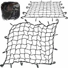LARGE CARGO NET CAR VAN TRUCK TRAILER 12 HOOKS BUNGEE CORD ATV RACKS NETS