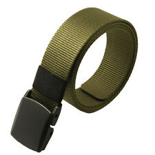 Stylish Mens Womens Outdoor Sports Braided Waistband Canvas Belt Adjustable New