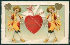 Valentine Greetings Clapsaddle ? postcard cartolina QT5890