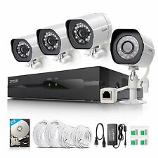 Zmodo 1080p HD Network Outdoor IR-cut Camera 4CH NVR Home Security System 2TB