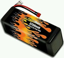 Maxamps LiPo 3250 6-cell 22.2v Battery Pack 6s 150c burst great for speed runs