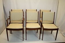 Danish Modern Classic Teak Wood 6 Dining Conference Chairs Ready to Use