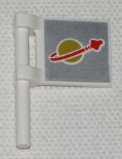 Lego New White Flag 2 x 2 Square with Classic Space Pattern on Both Sides Piece