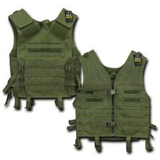Green Molle Modular Assault Military Tactical Protective SWAT Police Vest Gear