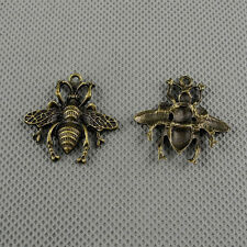2x A13965 Jewelry Making Pendant Vintage Findings Diy Handmade Charms Little Bee
