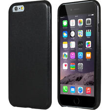 Coque rigide Leather-Look aspect cuir coloris noir pour iPhone 6