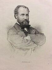 Charles Gounod  (1818-1893) compositeur Musique gravure 1868