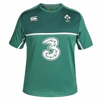 Canterbury Mens Ireland Rugby Poly Training Short Sleeve T-Shirt Top Tee Green